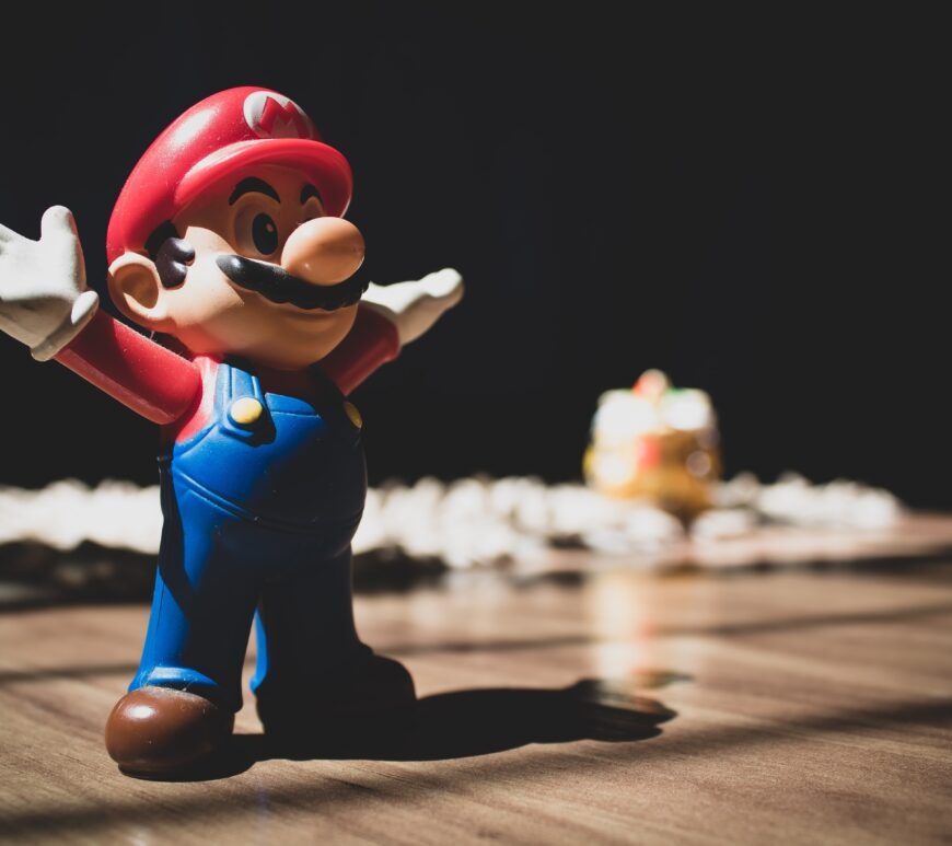 Mario figure in light